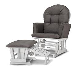 Graco Parker Semi-Upholstered Glider & Nursing Ot - White wi