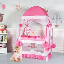 Portable Baby Boy Girl Playpen Crib Cradle Travel Bassinet B