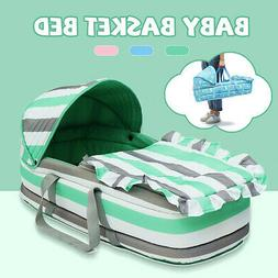 Portable Baby Crib Newborn Travel Folding Infant Basket Bed