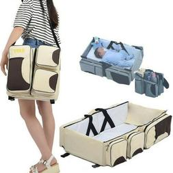 Portable Baby Travel Bed Crib Cot Folding Carry Nursery Infa
