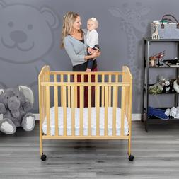 portable mini crib wood design adjustable