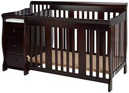 Storkcraft Portofino 4-in-1 Fixed Side Convertible Crib and
