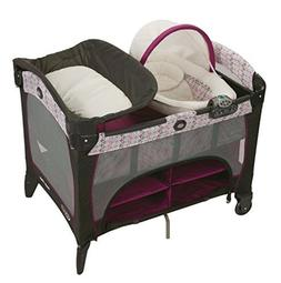 Graco Purple Nyssa Travel Bassinet Crib Changer Pad Playard