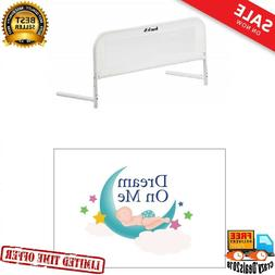 Convertible Crib Rail Toddler Baby Kids Bed Safety Mesh 33In