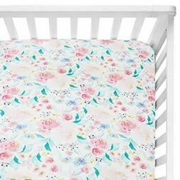 sahaler floral crib sheet for girl boy