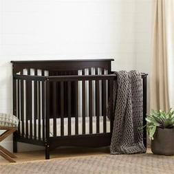 Savannah Baby Crib 4 Heights with Toddler Rail-Espresso-Sout