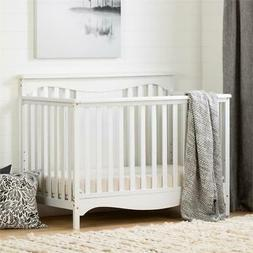 Savannah Baby Crib 4 Heights with Toddler Rail-Pure White-So