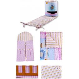 Dream On Me Sea Friends 5 Piece Reversible Portable Crib Bed