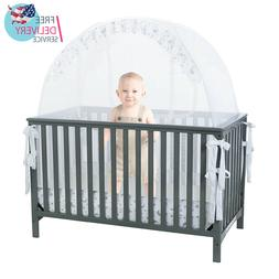 SEE Safety THROUGH MESH TOP Baby Crib Tent Net Pop Up Canopy
