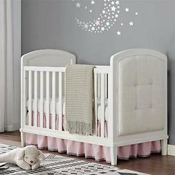 Baby Relax Senna 3-In-1 Upholstered Crib White Bed Safety Ra