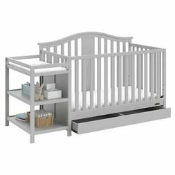 solano 4-in-1 convertible crib and changer with drawer, pebb