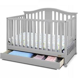 Graco Solano 4-in-1 Convertible Crib With Drawer Pebble Gray