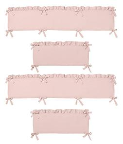 Solid Color Blush Pink Shabby Chic Baby Crib Bumper Pad for