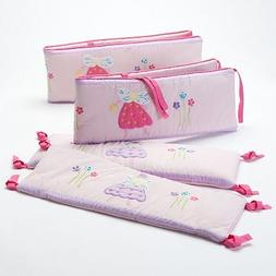 Bacati - Solid Cotton Crib Skirt 100% Cotton Percale with 13