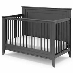 Storkcraft Solstice 4 in 1 Convertible Crib in Gray