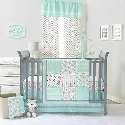 Southwest Dreams Mint and Grey Crib Bedding - 20 Piece Nurse