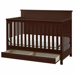 Stork Craft Davenport 5-in-1 Convertible Crib with Drawer -
