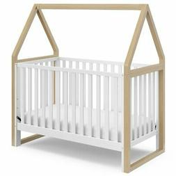 Storkcraft Orchard 5 in 1 Canopy Convertible Crib in Driftwo