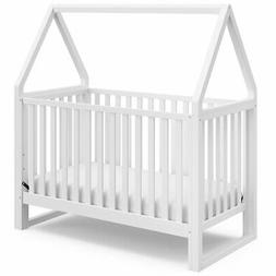 Storkcraft Orchard 5 in 1 Canopy Convertible Crib in White