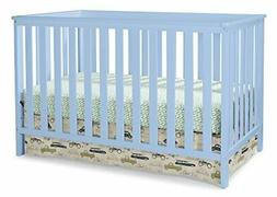 Storkcraft Rosland 3 in 1 Convertible Crib, Sky Blue