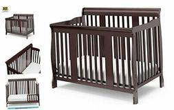 Storkcraft Tuscany 4-in-1 Convertible Crib, Espresso Easily