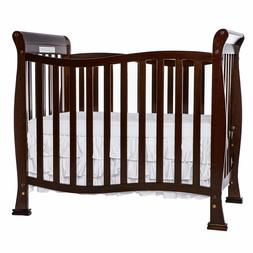 4 N 1 Convertible Mini Crib Expresso Baby Toddler Bed Adjust