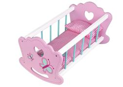 Toysters Wooden Baby Doll Rocking Cradle | Crib Includes Acc