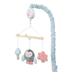 Carter's Woodland Meadow Forest/Owl Musical Mobile, Pink/Aqu